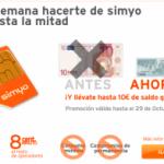 Promoción Simyo por 5 euros ampliada hasta el lunes