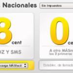 Llamadas entre MásMovil a 0 céntimos/minuto, sólo durante 2 minutos