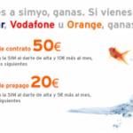 Promoción Portabilidad de Simyo, vente de Vodafone, Movistar u Orange y tendrás hasta 50 euros saldo
