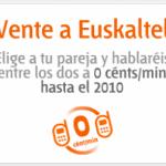 Vente a Euskaltel, y habla por 0 céntimos/minuto con otro número