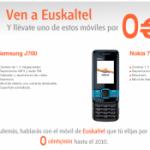 Samsung J700 y Nokia 7100 SuperNova gratis con Euskaltel