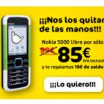 Nokia 5000 por 85 euros con MÁSmovil