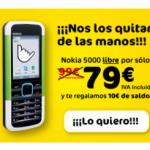 MÁSmovil baja todavía más el Nokia 5000, 79 euros
