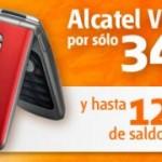 Alcatel V670 y su cargador solar con Euskaltel