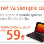 Mini portátil barato con Internet Móvil de Euskaltel