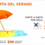 Promoción verano de Simyo: Tarjeta de Simyo a 5 euros