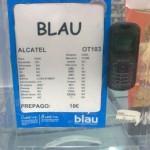 Alcatel OT 103 de Blau por 10 euros con 10 euros en saldo