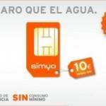 Simyo: Tarjeta SIM 10 euros saldo por 10 euros