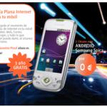 Android Samsung Spica y un año de internet móvil gratis con Euskaltel