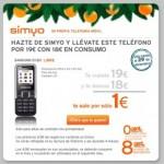 Samsung E1120 libre con Simyo por 19 euro con 18 euros de saldo