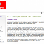 Vodafone busca un gestor/a comercial para sus OMV