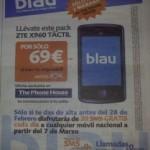 Blau: ZTE X960 por 69 euros en The Phone House