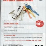 1 GB de Internet Móvil por 14.95 euros/mes con ONO