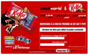 Promoción Pepephone con Kit Kat