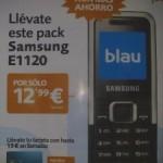 Samsung E1120 por 12.99 euros con Blau en Telecor