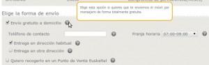 Formulario de pedido a Euskaltel