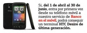 HTC Desire con Bankinter
