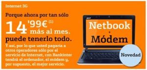 Netbook o mini portátil de Bankinter Móvil