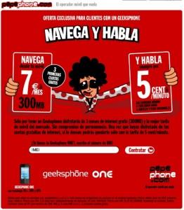 Promoción de Pepephone y Geeksphone