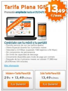 Imagen de la promoción de 1 GB de Internet móvil
