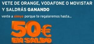 Promoción de Simyo, hasta 50 euros en llamadas