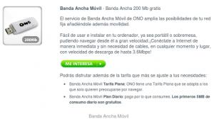 Banda ancha móvil de ONO