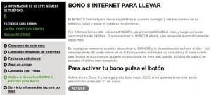En Mi Yoigo se puede activar gratis el Bono del 8