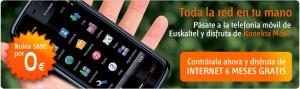 Promoción Euskaltel, internet móvil y Nokia 5800 gratis
