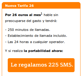 Promo tarifa 26