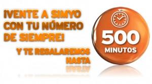 Portabilidad a Simyo y hasta 500 minutos gratis