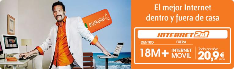 Módem USB gratis con el Internet 2 en 1 de Euskaltel