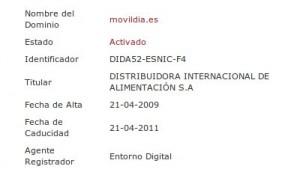 Whois movildia.es