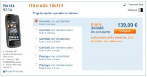 Nokia 5230 online con Simyo