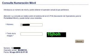 Cómo saber operador móvil de un número de teléfono móvil
