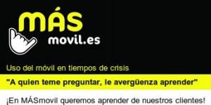 Encuesta de MÁSmovil sobre el uso del móvil en crisis