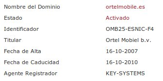 Whois ortelmobile.es