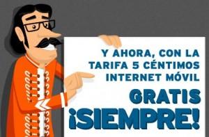 Internet móvil será gratis siempre con la tarifa del 5 de Simyo
