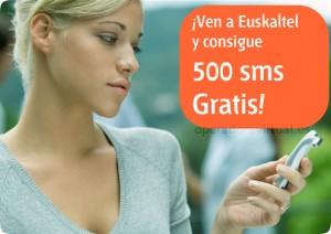 500 SMS gratis con Euskaltel Móvil