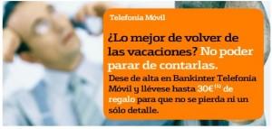 Promociones de Bankinter Móvil