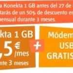 Internet móvil 1 Giga de Euskaltel al 50%