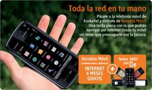 Nokia 5800 gratis con Euskaltel, e internet móvil por 6 meses