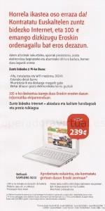 Netbook Samsung N210 con Eroski