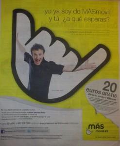 Promoción MÁSmovil en portabilidad: 20 euros gratis