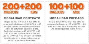 Promoción de Simyo de hasta 200 minutos y 200 SMS gratis