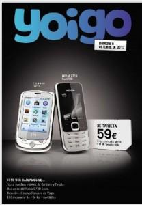 Yoigo revista de Octubre del 2010
