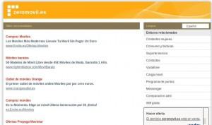 web del dominio zeromovil.es
