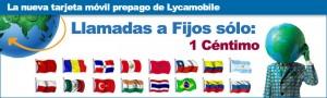 Llamadas a fijos internacionales con Lycamobile a 1 céntimo/minuto