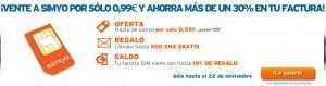 Tarjeta SIM a 0.99 euros y hasta 500 SMS