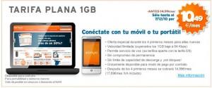 Tarifa plana 1 giga de internet móvil