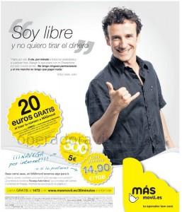 Promoción MÁSmovil 20 euros llamadas gratis al portarse